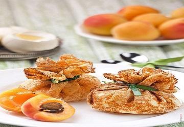 Aumoniere crepe abricot 2