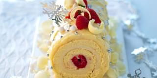 Buche chocolat blanc fruits rouges