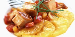 Saute de porc a l ananas