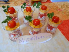 Verrine facile tricolores